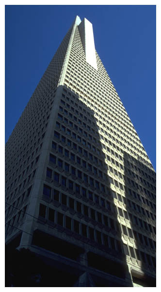Pyramid: Sep 3rd, 1999: The Transamerica Pyramid, 600 Montgomery Street, 853 feet high. (005)
